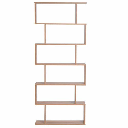Deloatch Bookcase Metro Lane Colour Light Brown Shelves Metal Shelving Units Storage Spaces