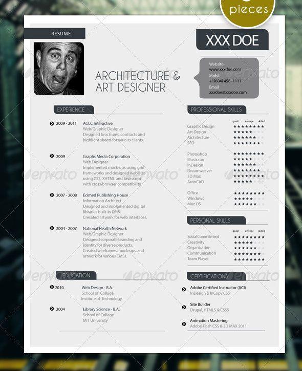 5 Pieces Modern Resume Set with Portfolio cv Pinterest Cv - art designer resume