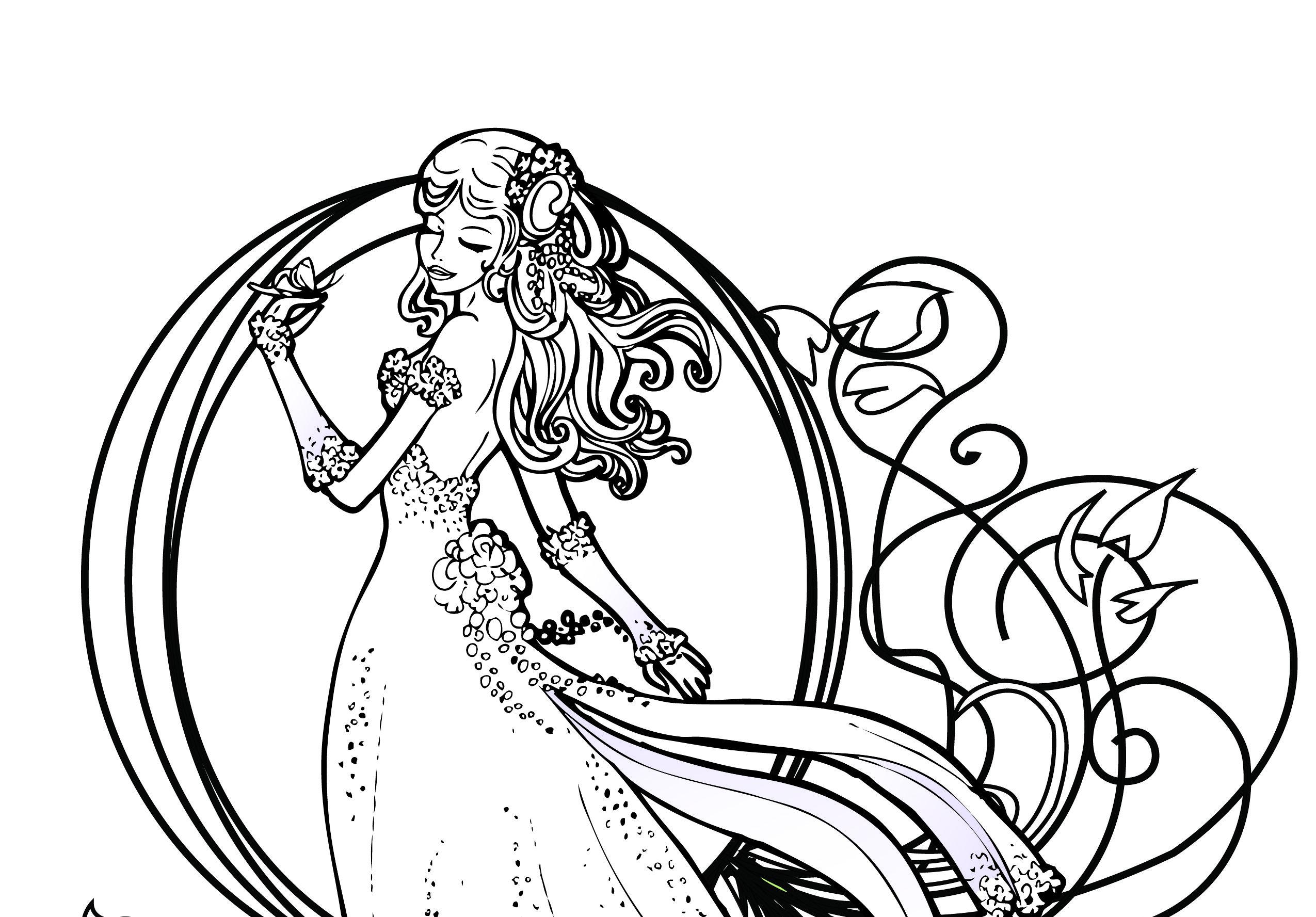 coloriage de princesse disney gratuit imprimer imprimez limage noirblanc coloriez ce