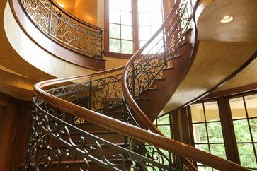 Grapevine Spiral Staircase Mediterranean Staircase Portland Amy Troute Inspired Interior Design Interior Design Interior Staircase