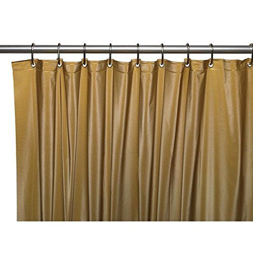 United Linens 10 Gauge HEAVY DUTY Shower Curtain Liner Gold72x72 ...