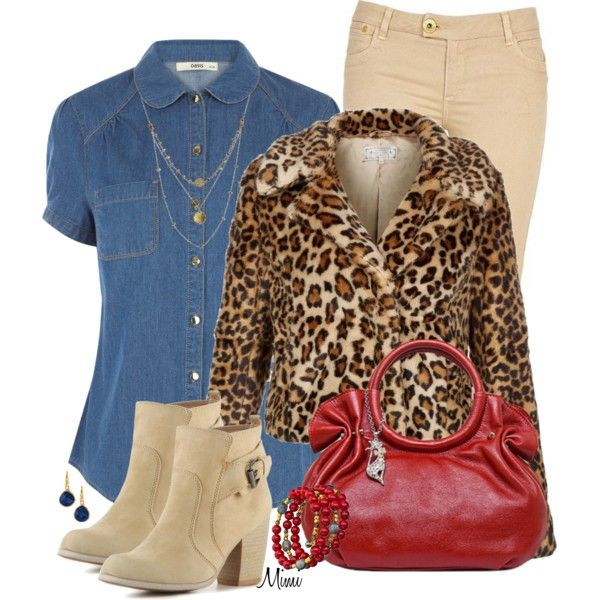 Furry Leopard Jacket, created by myfavoritethings-mimi on Polyvore