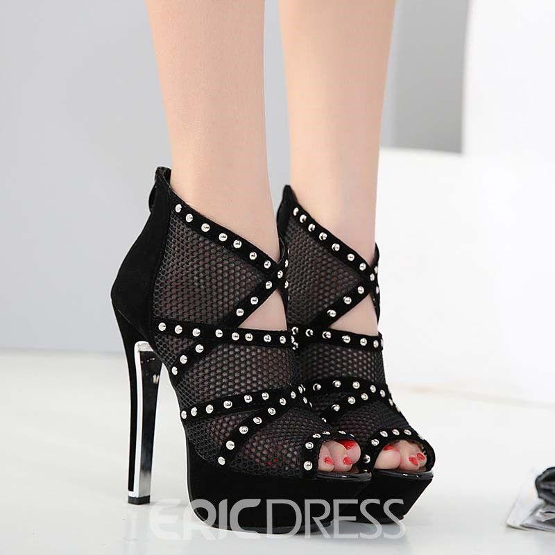 #women #fashion #womensfashion #womenstyle   #shoes #Peep #Toe #Zipper #Banquet #Stiletto #Heel #Sandals #ad #affilate