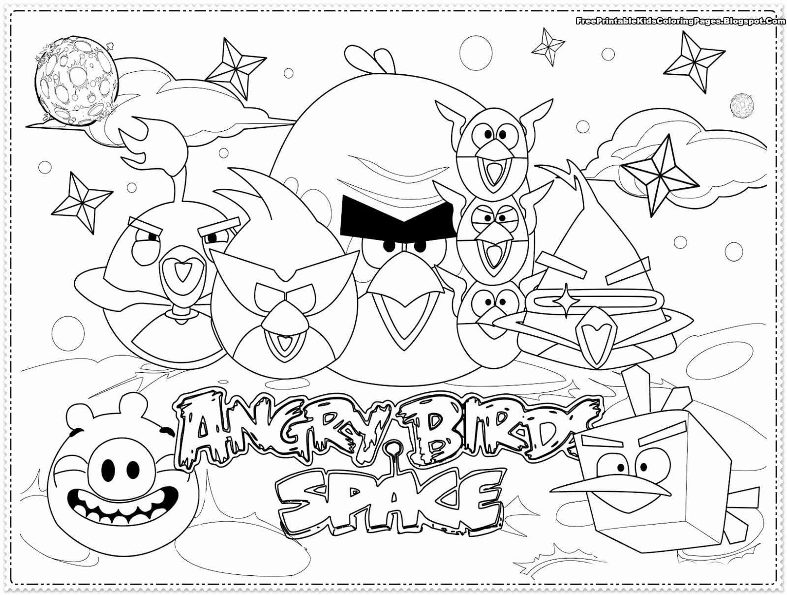Angry Birds Coloring Book Luxury Angry Birds Kids Coloring Pages Free Printable Kids Bird Coloring Pages Space Coloring Pages Free Coloring Pages