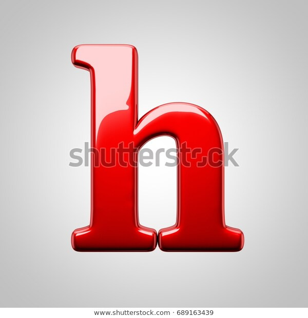 Metallic Red Letter H Lowercase 3d Stock Illustration 689163439 Stock Illustration Lettering Lowercase A