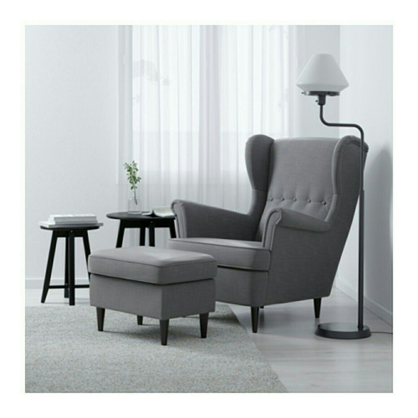 Strandmon Wing Chair Skiftebo Light Turquoise T