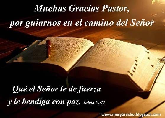 Mensajes De Agradecimiento: Postal Gracias Pastor Por Guiarnos. Día Del Pastor