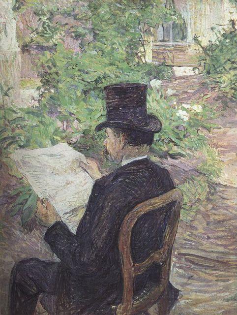 Désiré Dihau leyendo el periódico, 1890.