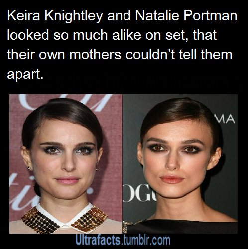 Wow, they really do look alike! I never noticed it ...