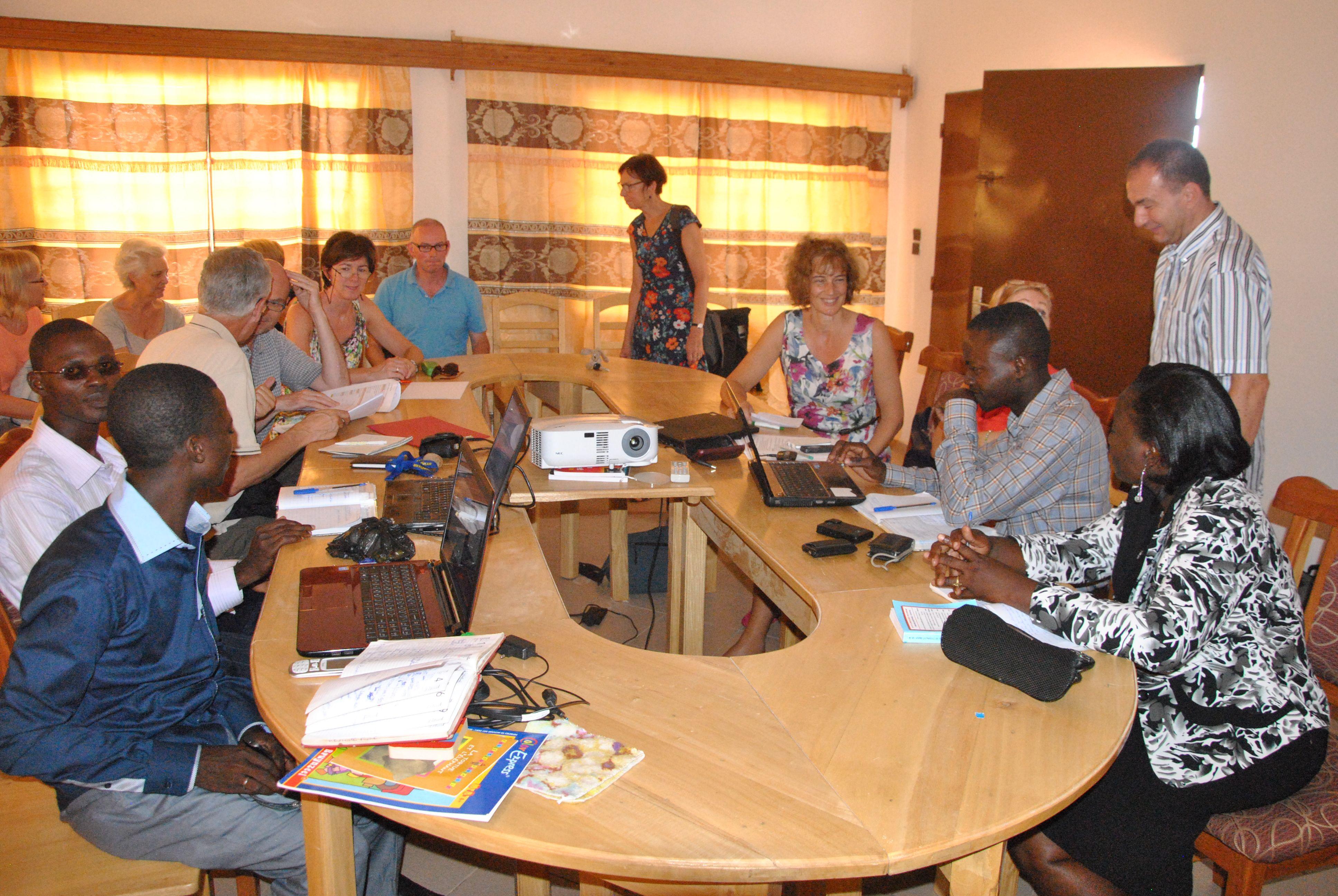 Bespreking van de projecten met de lokale coördinatoren - oktober 2014