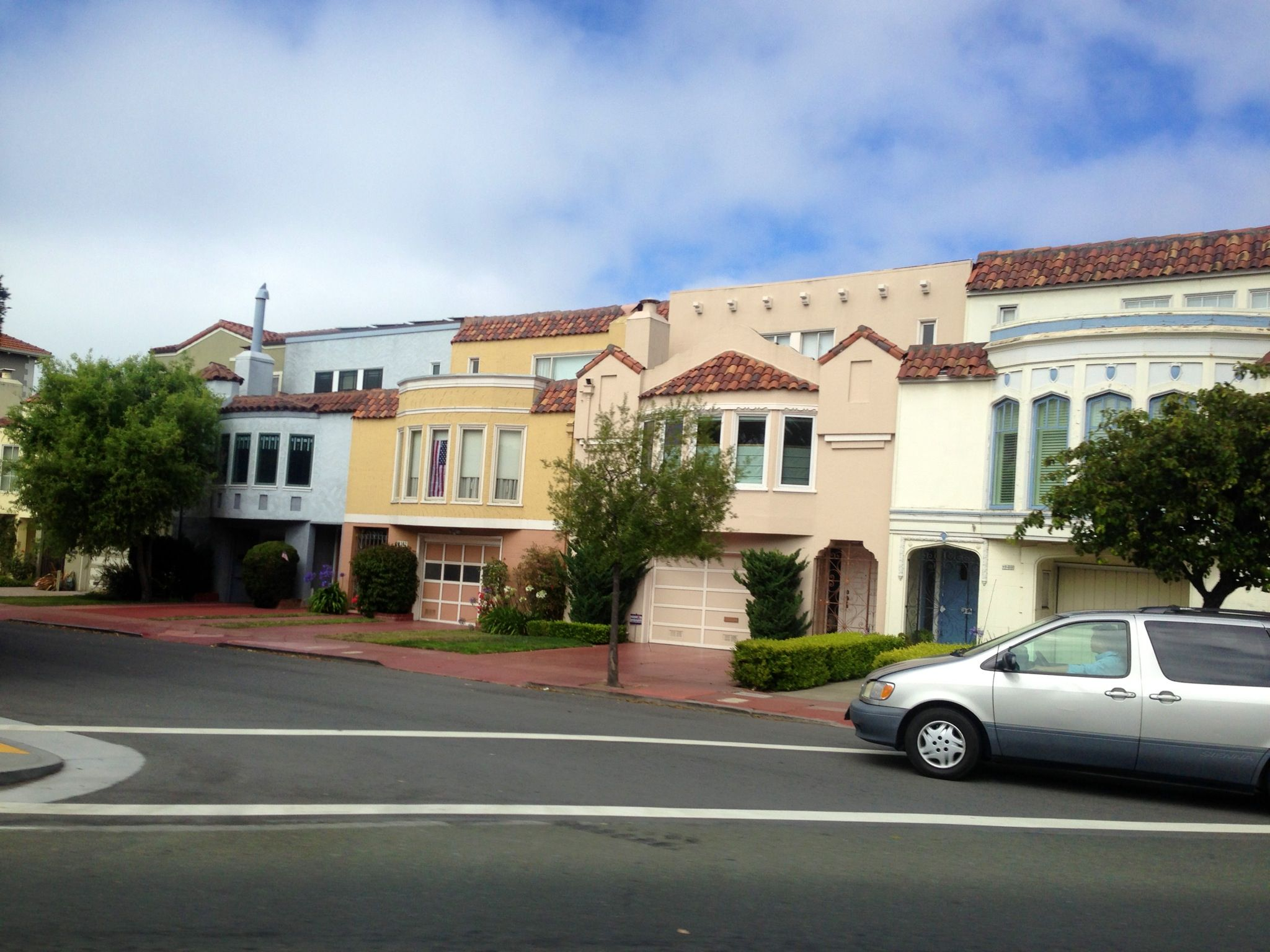 Brightly painted houses in San Francisco