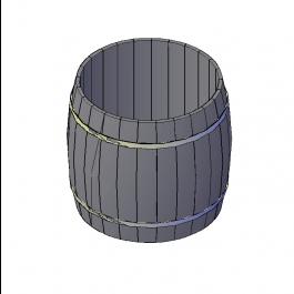 Barrel 3D DWG model   Furniture 3D CAD models   3d cad