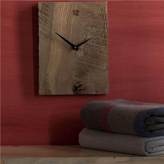 Reclaimed Barnwood Wall Clock (491576154), Wood Wall Art, Wall Planters, Wreaths & More   bambeco