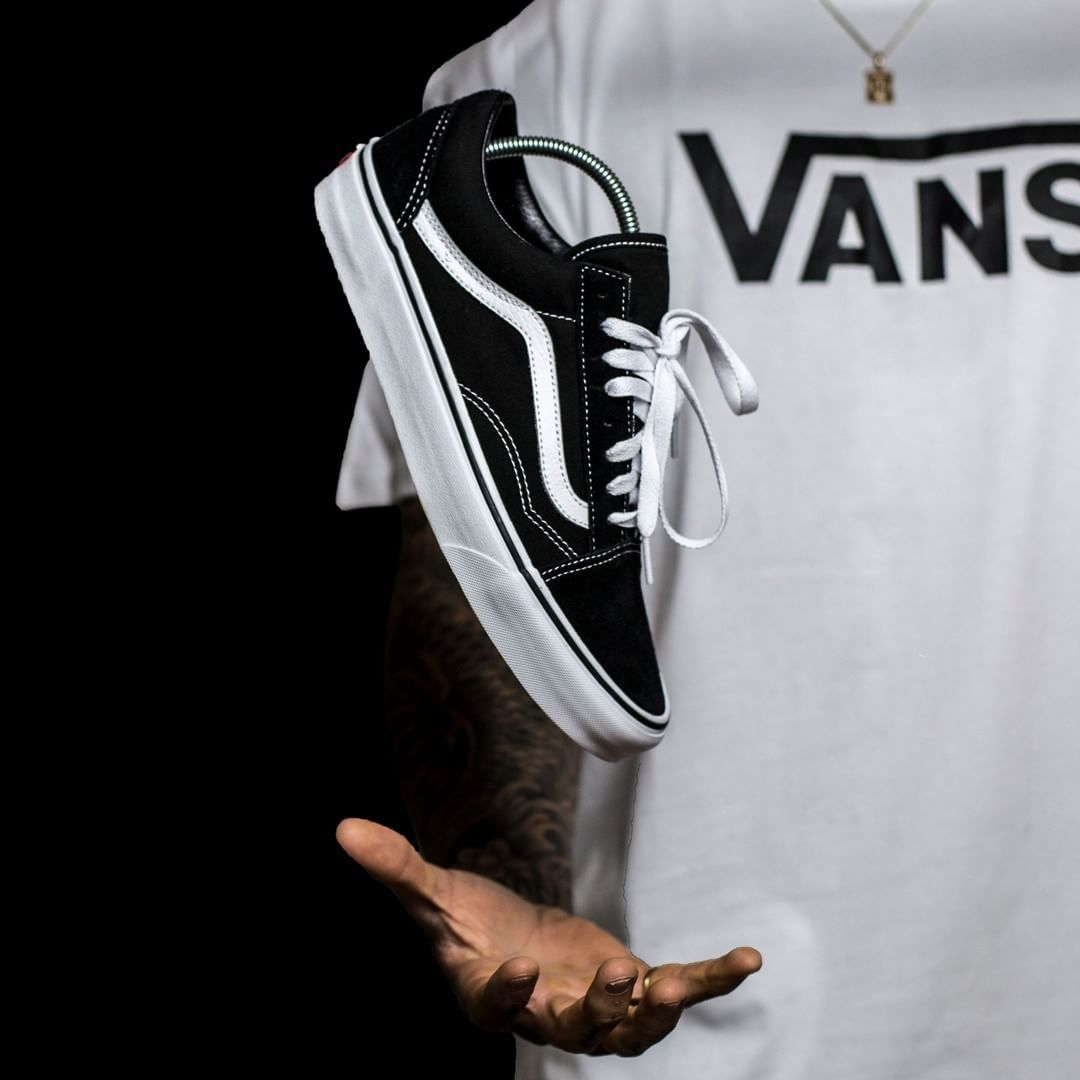9848ab7a2a8 These best selling Vans in black   white have just been restocked! Quick