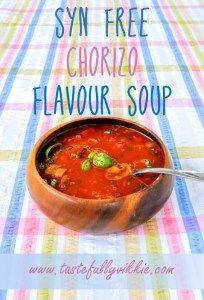 Syn Free Slimming World Chorizo Soup Maker Recipe Chorizo