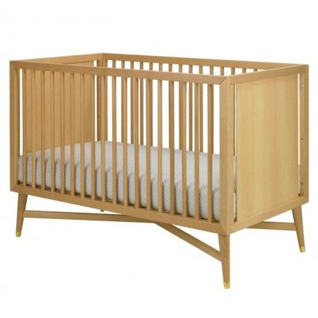 love the natural wood and modern lines of this crib dwellstudio mid century crib in natural - Mid Century Modern Crib
