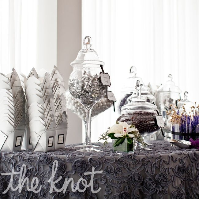 Silver Wedding Candy Bar | Weddings, Parties, & Events | Pinterest ...
