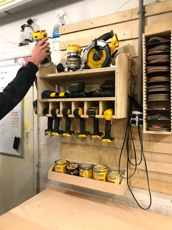 Cordless Drill Holder Wall Mounted Cordless Impact Tool Organizer Power Tool Storage Gift For Hus In 2020 Tool Storage Diy Tool Storage Tool Wall Storage