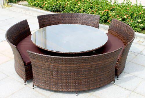 Delightful Big Round Outdoor Table Dining Table Ideas