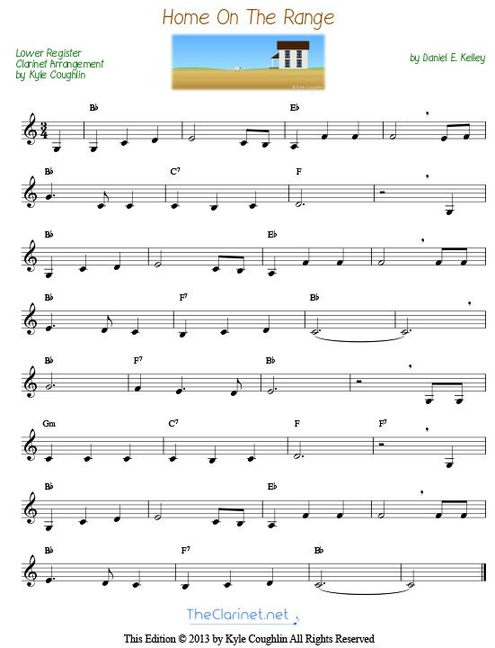 photograph relating to Free Printable Clarinet Sheet Music identify Household upon the Number for clarinet, decreased sign-up Clarinet