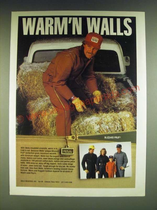 1985 walls insulated coveralls ad warm n walls with on walls coveralls for men insulated id=85040