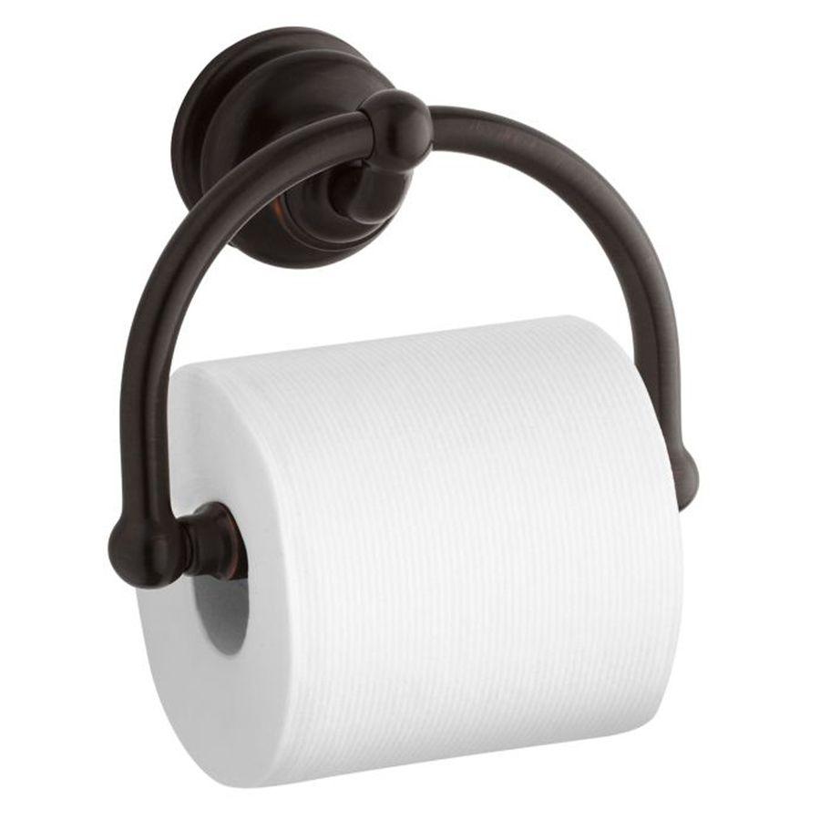 Kohler Fairfax Oil Rubbed Bronze Wall Mount Spring Loaded Toilet Paper Holder Lowes Com Toilet Paper Holder Oil Rubbed Bronze Kohler