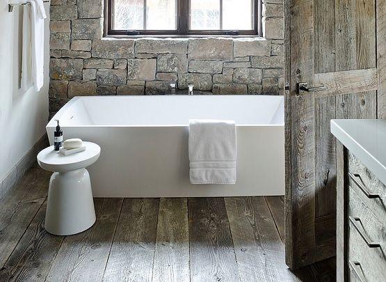 20 Amazing Design And Ideas Of Rustic Hardwood Flooring Bathroom With