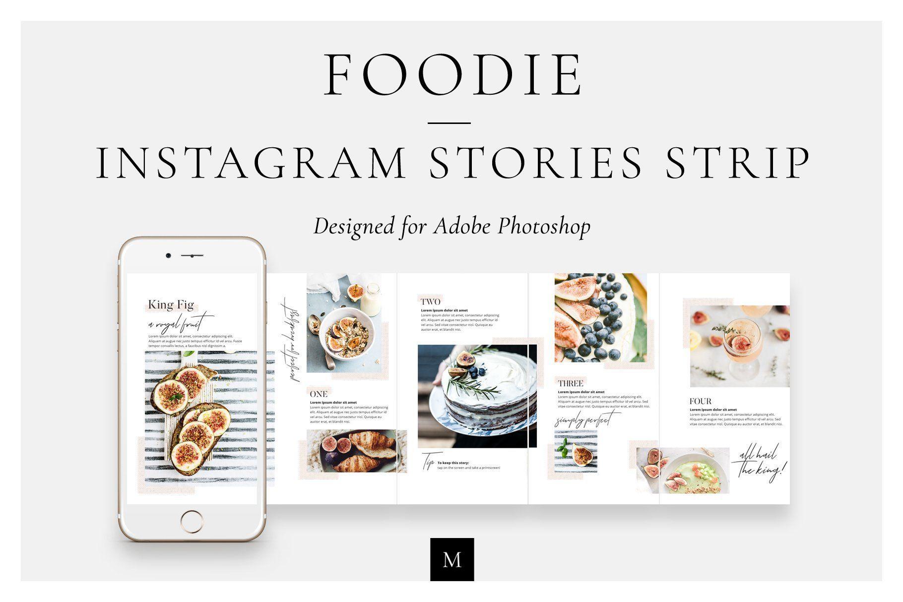 Foodie Instagram Stories Strip Instagram story, Social