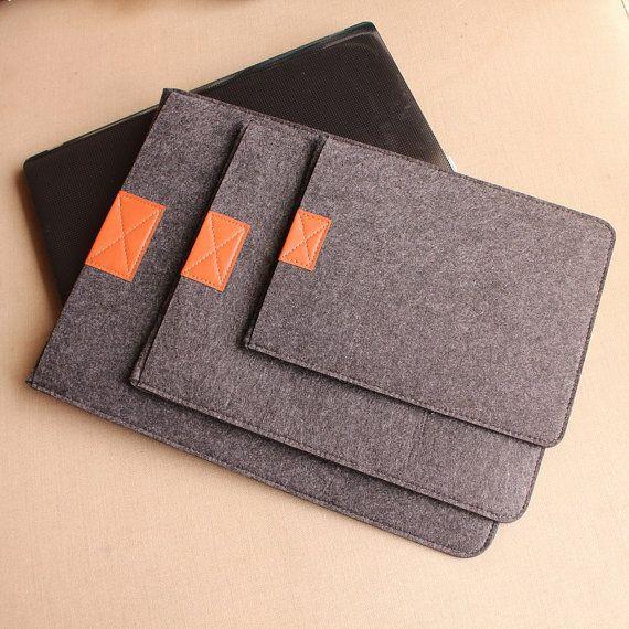 Fashion Unique Soft Felt Laptop Sleeve Laptop Case Laptop Bag For Macbook 11 6 13 3 15 Macbook Air Mac Pr Leather Laptop Sleeve Felt Bag Leather Tablet Case