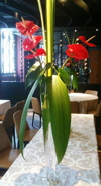 Centre De Table Mariage Anthurium Wedding Table Floral Art Decor