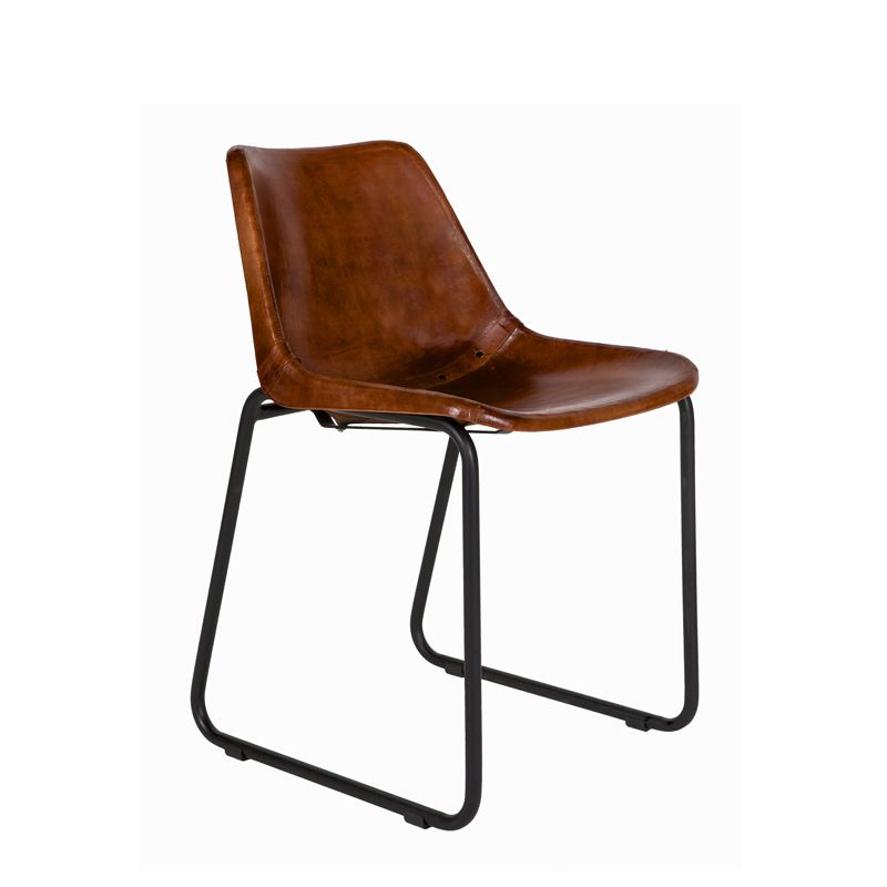 Leather Chair Care brown leather chair from luma eco textiles - crafted with care