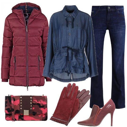 Outfit per una serata informale  camicia di jeans con coulisse in vita f275350714c