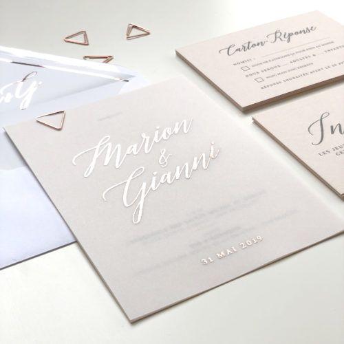 Faire-part mariage calque et cuivre, mariage bohème chic| Collection Sahanna
