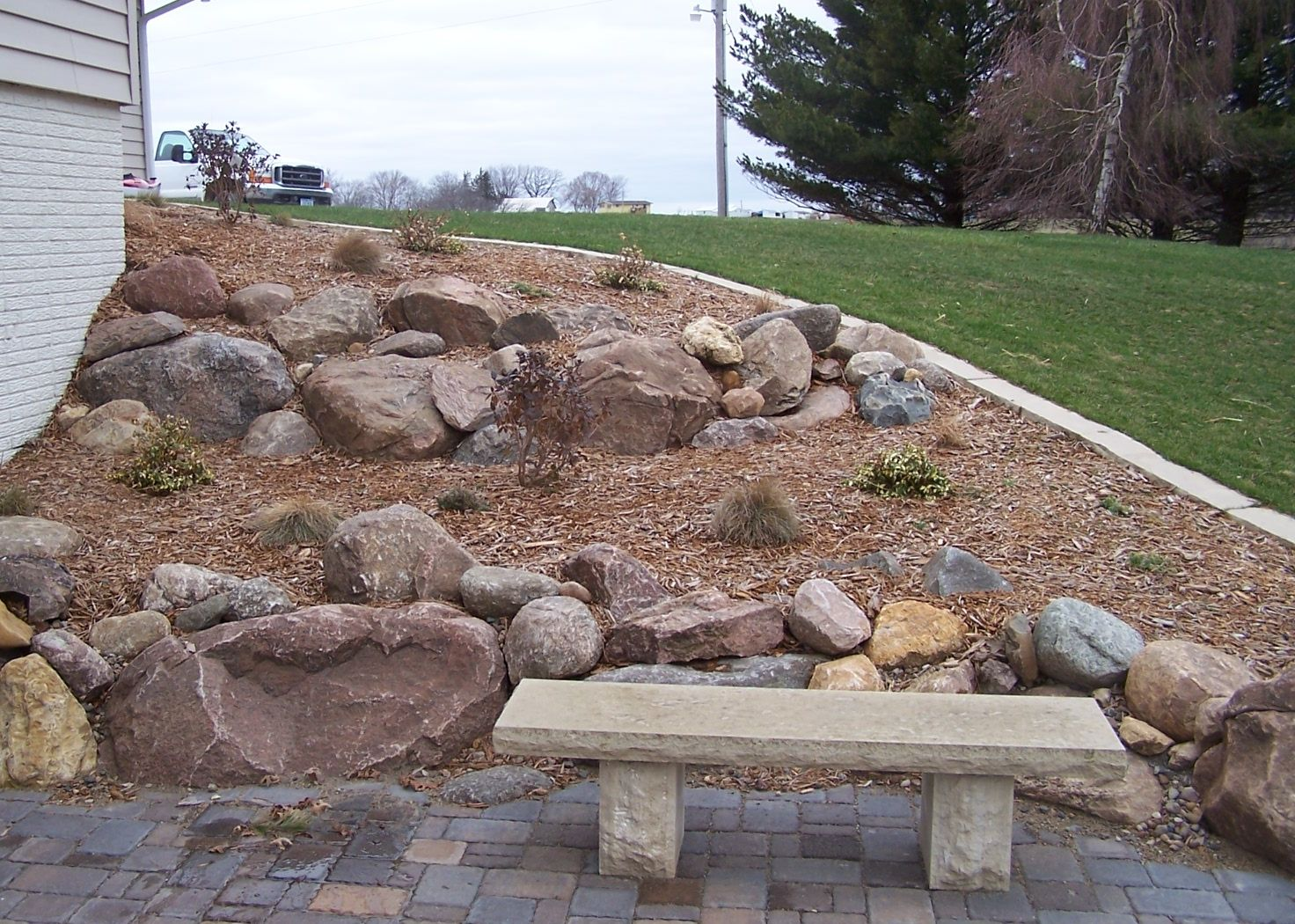 Large Landscape Boulders Dallas : Boulder placement on deck landscaping landscape