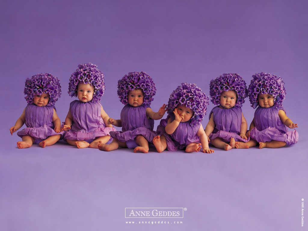purple babies! so stinkin' cute!