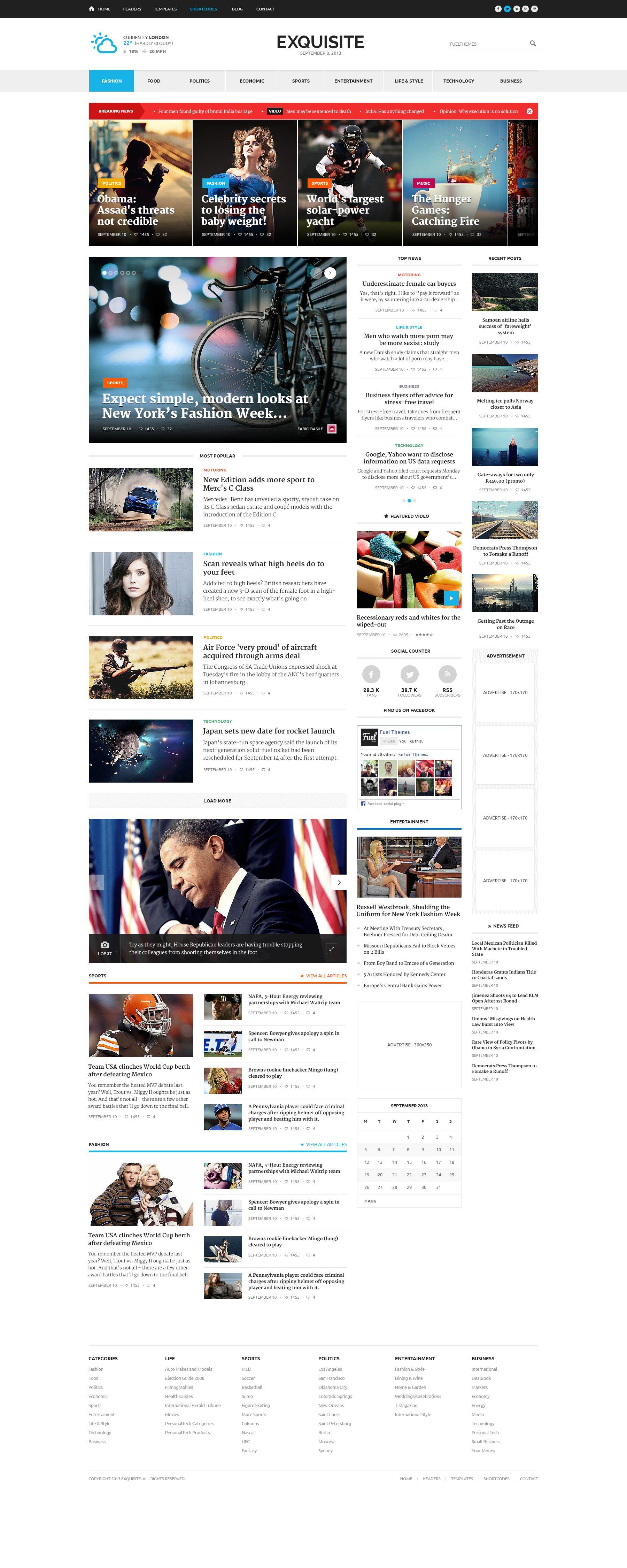 Dribbble Exquisite Home Jpg By Aykut Yilmaz News Web Design Newspaper Design Layout News Website Design