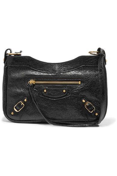 fb5537a70f Balenciaga - Classic Hip Textured-leather Shoulder Bag - Black ...
