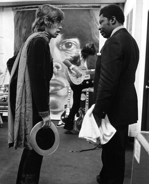 Mick Jagger and B.B. King, 1969. Cool picture!