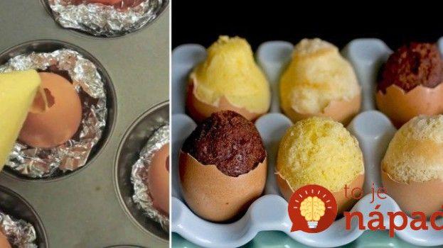 Ako upiecť veľkonočné mini koláčiky vo vaječnej škrupinke?