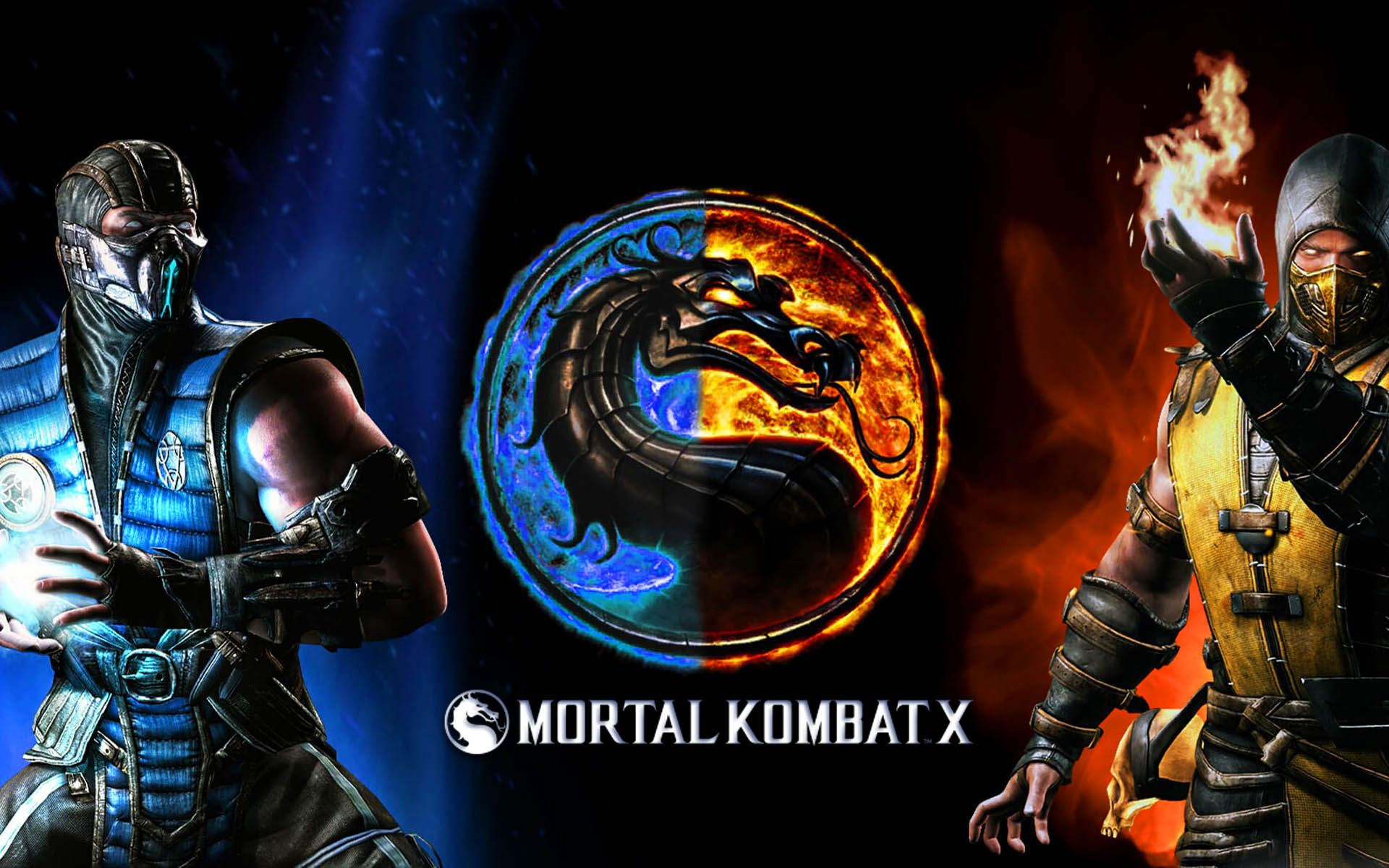 Mortal Kombat X Subzero Vs Scorpion Finish Him Wallpaper Com