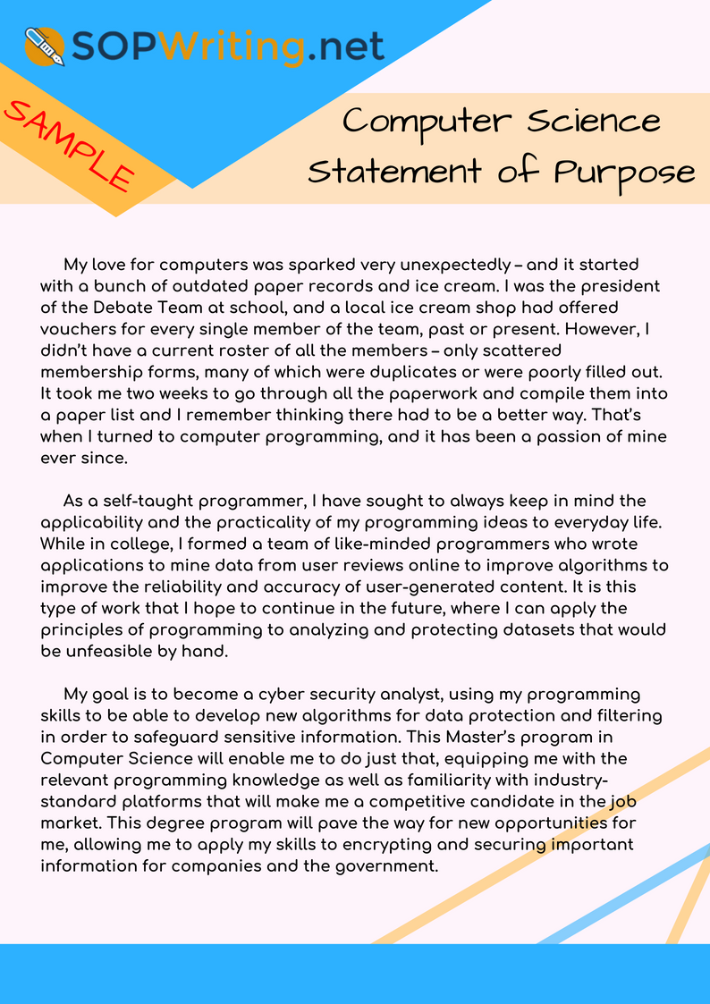 Pin By Statement Of Purpose Samples On Computer Science