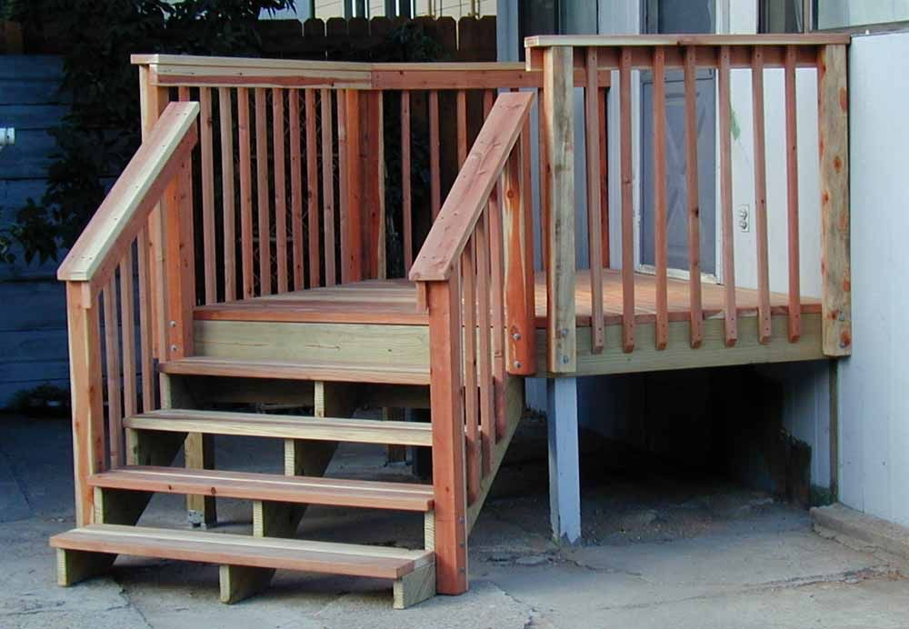 Marvelous Small Deck With Stairs Many Deck Railing Ideas Http://awoodrailing.com/