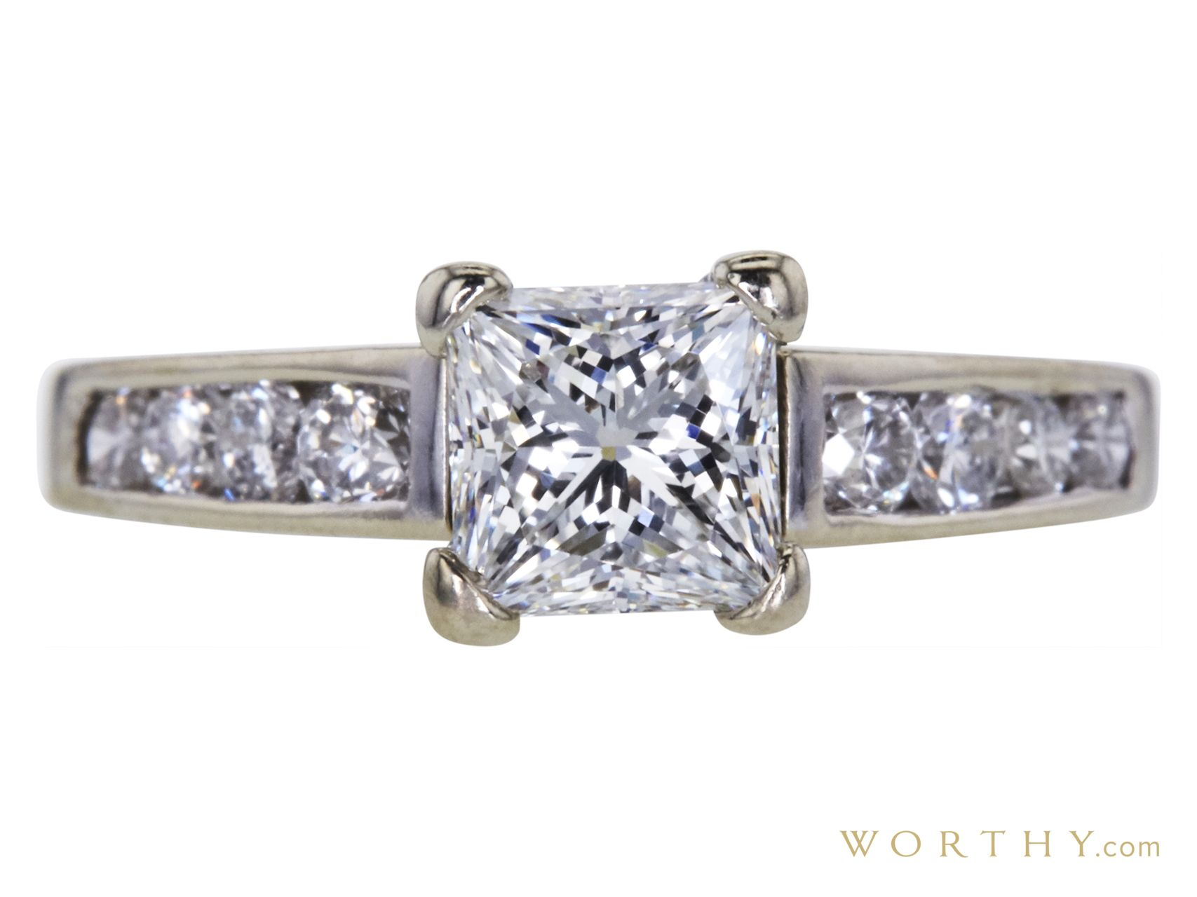 ct princess cut solitaire ring sold at auction for