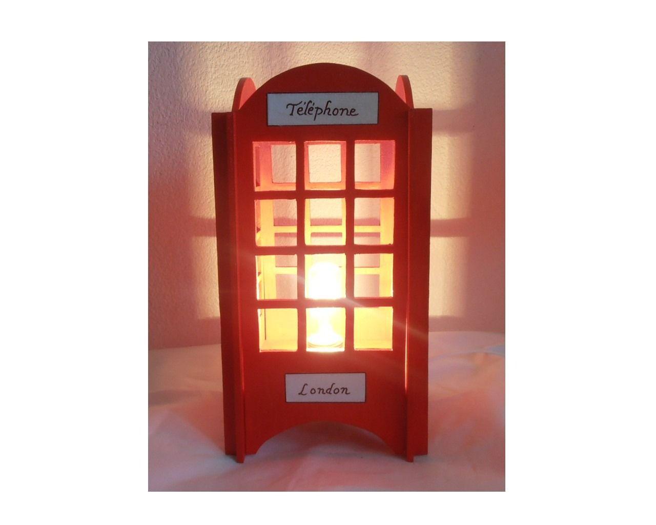 Par L Téléphonique De Cabine LondresLuminaires Chevet Lampe gmYby76vIf