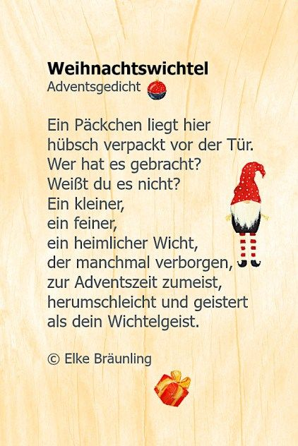 Adventsgedichte Kinder