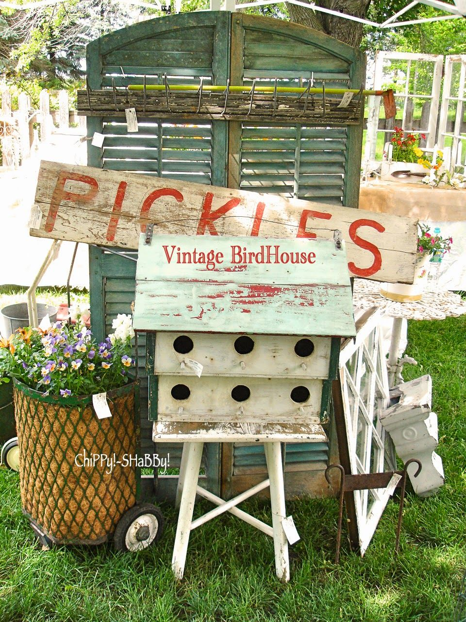 Booth northwind perennial farm antique show muebles y accesorios para mesas de dulces - Accesorios para terrazas ...