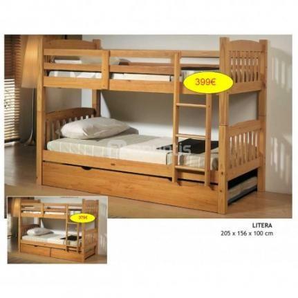 Literas de madera maciza en liquidaci n por cierre kids for Muebles oficina baratos liquidacion por cierre