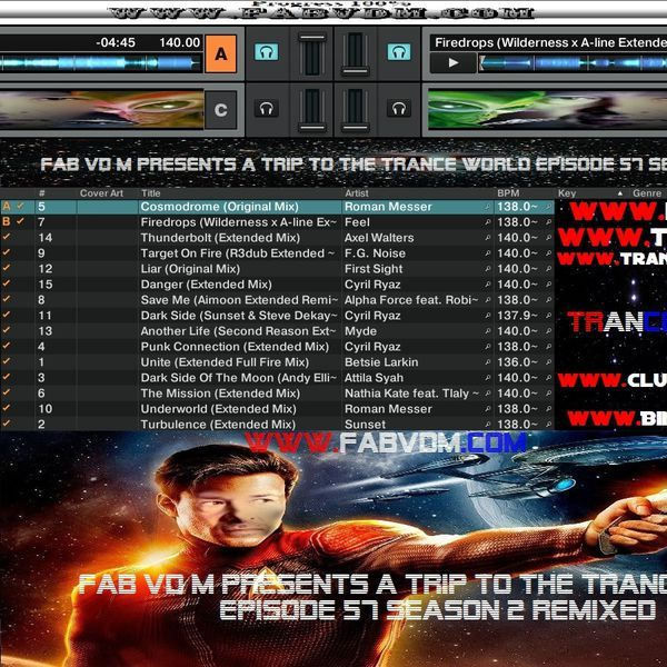 Fab vd M Presents A Trip To The Trance World Episode 57 Season 2 Remixed. Mixed in key By : Fab vd M (Dj,Producer,Remixer) You can like Fab vd M at face book here : www.facebook.com/fabvdm1979  Look below to other websites from us, and follow us on the other websites : www.fabvdm.com www.tranceworldradio.com www.clubdanceradio.com Twitter : https://twitter.com/fab_vd_m Soundcloud: https://soundcloud.com/fab-vd-m Youtube :https://www.youtube.com/user/mayhemfm