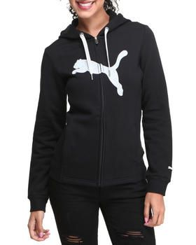 black puma hoodie women's