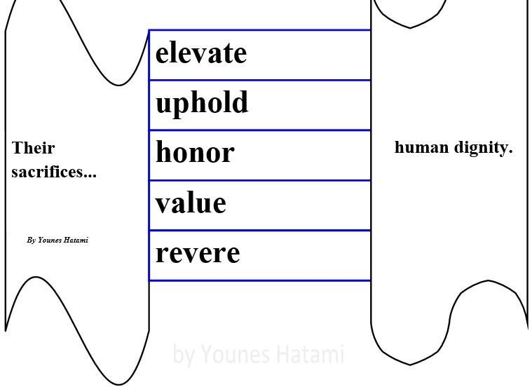 to elevate, uphold, honor, value, revere human dignity.